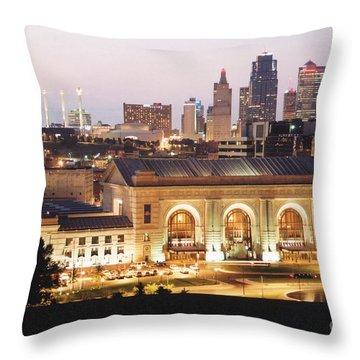 Union Station Evening Throw Pillow