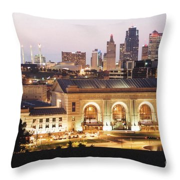 Union Station Evening Throw Pillow