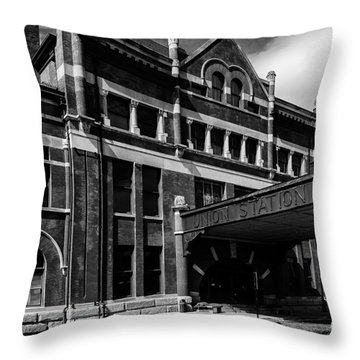 Union Station In Montgomery Alabama Throw Pillow