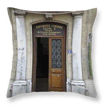 Universite Lumiere Throw Pillow by Allen Sheffield