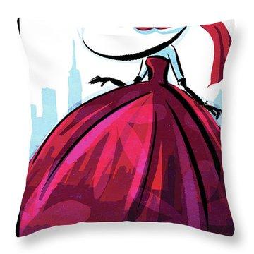 Red Dress Throw Pillows