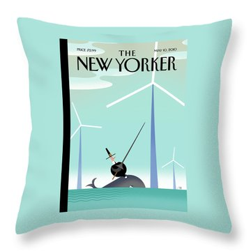 New Yorker May 10th, 2010 Throw Pillow