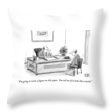 I'm Going To Write A Figure On This Paper Throw Pillow