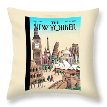 New Yorker April 20th, 2009 Throw Pillow