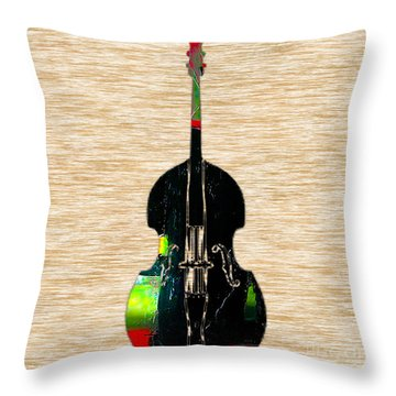 Upright Bass Throw Pillow