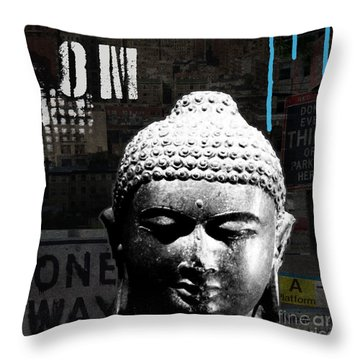 Urban Buddha  Throw Pillow