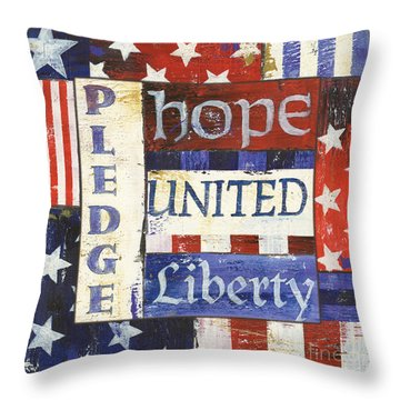 Usa Pride 1 Throw Pillow by Debbie DeWitt