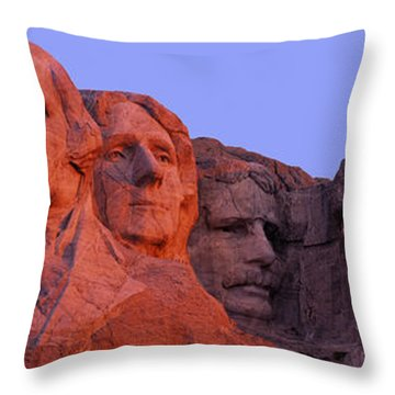 Usa, South Dakota, Mount Rushmore Throw Pillow by Panoramic Images