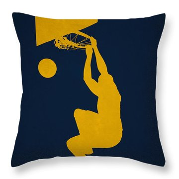 Utah Jazz Throw Pillow by Joe Hamilton