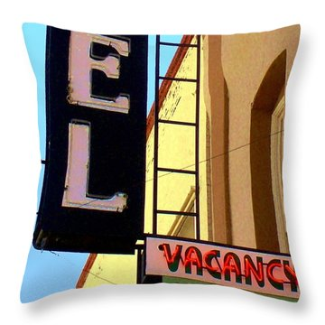 Vacancy Throw Pillow by Valerie Reeves