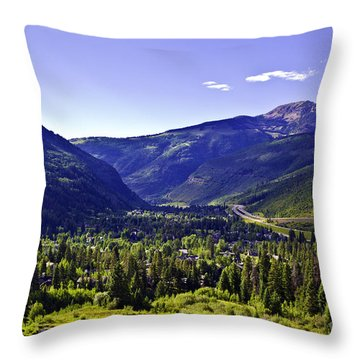 Vail Valley View Throw Pillow
