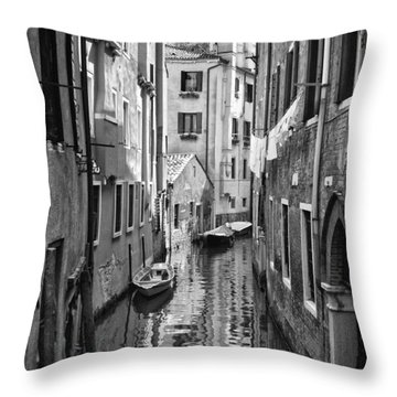 Venetian Alleyway Throw Pillow by William Beuther