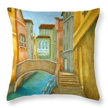 Venezia Throw Pillow by Pamela Allegretto