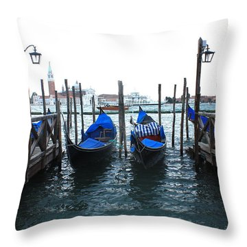 Throw Pillow featuring the photograph Venice Italy by Jean Walker