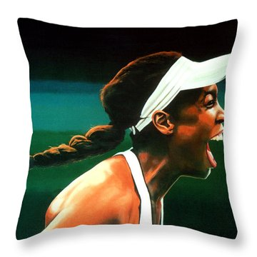Venus Williams Throw Pillow by Paul Meijering