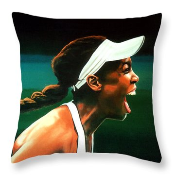 Venus Williams Throw Pillow