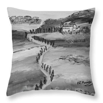 Throw Pillow featuring the painting Verde Sentiero by Loredana Messina