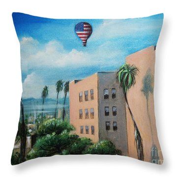 View From Olympic Boulevard Throw Pillow