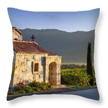 Vineyard Prayer Chapel Throw Pillow by Brian Jannsen