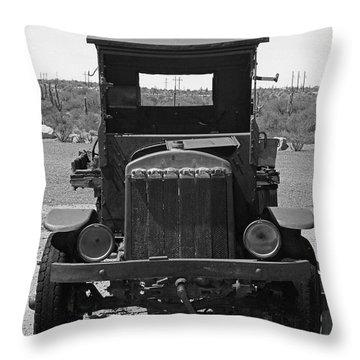 Vintage Stare Down Throw Pillow