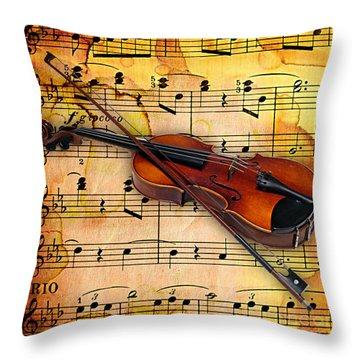 Violin Collection Throw Pillow