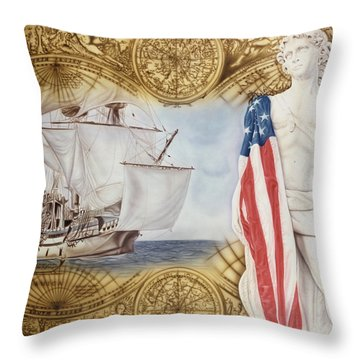 Visions Of Discovery Throw Pillow
