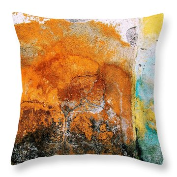 Wall Abstract 40 Throw Pillow by Maria Huntley