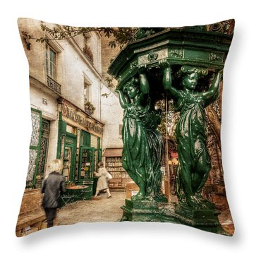 Wallace Fountain By Shakespeare And Co / Paris Throw Pillow