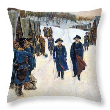Washington: Valley Forge Throw Pillow by Granger