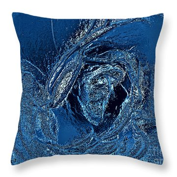 Water Rose Throw Pillow