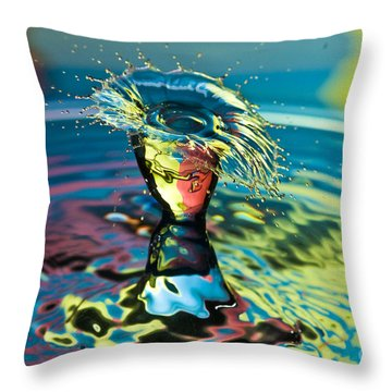 Water Splash Having A Bad Hair Day Throw Pillow