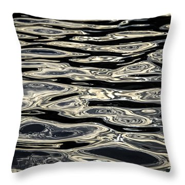 Water Surface Throw Pillow by Elena Elisseeva
