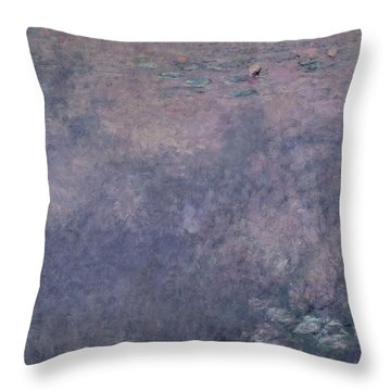 Waterlilies Two Weeping Willows Throw Pillow by Claude Monet