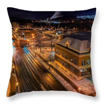 Wausau After Dark Throw Pillow
