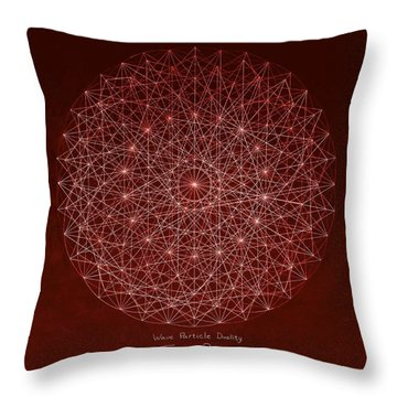 Throw Pillow featuring the drawing Wave Particle Duality by Jason Padgett