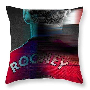 Wayne Rooney Throw Pillows
