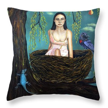 Weeping Willow Throw Pillow by Leah Saulnier The Painting Maniac