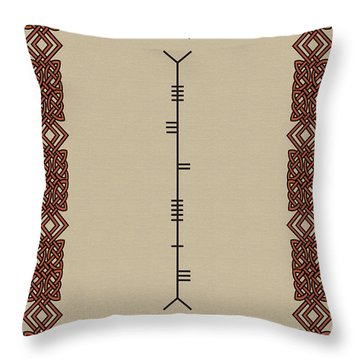 Welcome Written In Ogham Throw Pillow