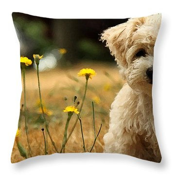 West Highland White Terrier Painting Throw Pillow by Marvin Blaine