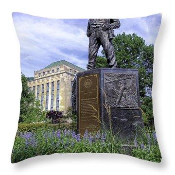 West Virginia Coal Miner Throw Pillow by Thomas R Fletcher