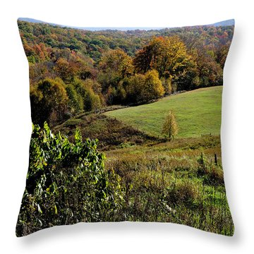 West Virginia Fall Color Throw Pillow by Thomas R Fletcher