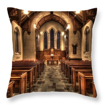 Westminster Presbyterian Church Throw Pillow by Amanda Stadther