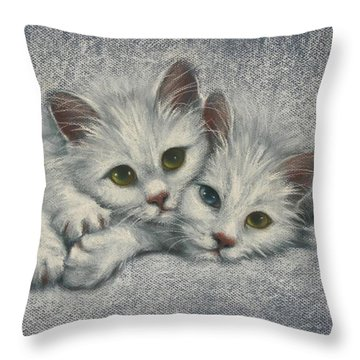 Throw Pillow featuring the painting White On White by Cynthia House