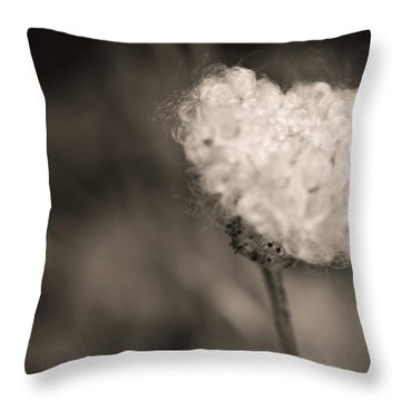 Throw Pillow featuring the photograph White Whisper by Sara Frank