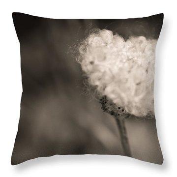 White Whisper Throw Pillow by Sara Frank
