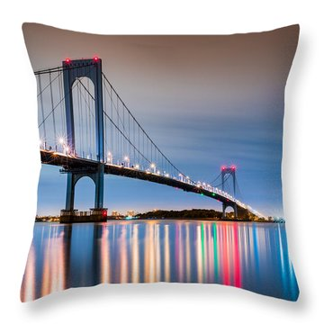 Whitestone Bridge Throw Pillow