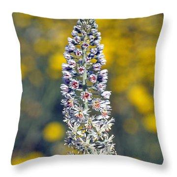 Wild Mignonette Flower Throw Pillow by George Atsametakis