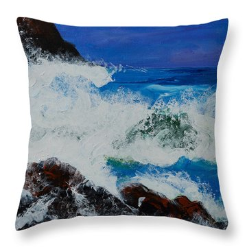 Wild Sea Throw Pillow