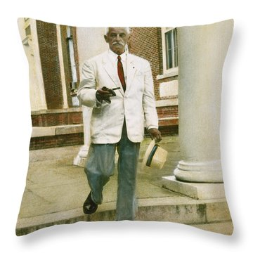 Throw Pillow featuring the photograph William Faulkner (1897-1962) by Granger