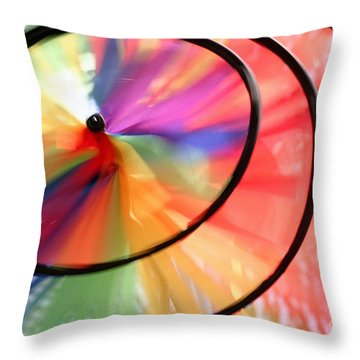 Throw Pillow featuring the photograph Wind Wheel by Henrik Lehnerer